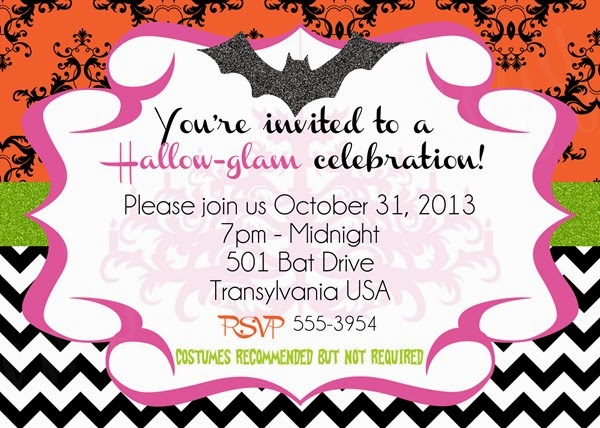 Hallow-glam Invite with Glitter