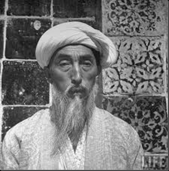 Old Kashgar native. Sinkiang, China 1943