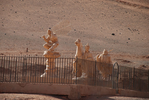 Flaming mountains - statues journey to the west