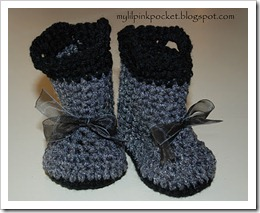 gray baby boots