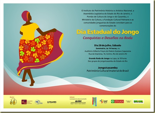 Convite Dia Estadual do Jongo 2012