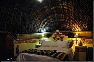 inside of our zulu hut