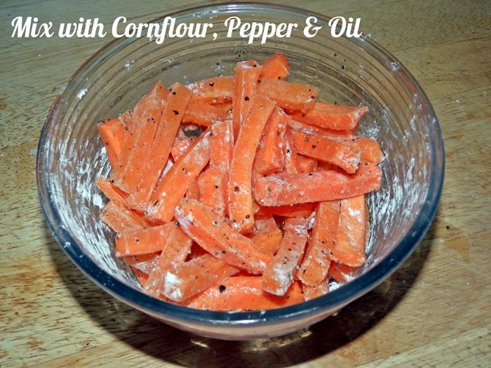 Carrot fries ingrediants