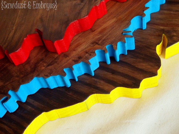 DIY State Map Plaques with a POP of color