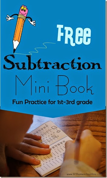 subtraction mini book math practice for 1st grade 2nd grade and 3rd grade kids