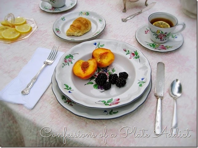 CONFESSIONS OF A PLATE ADDICT Lunéville Old Strasbourg Rose place setting
