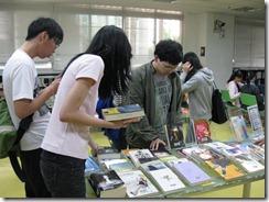 這次展出中西文小說類圖書,同學都很有興趣
