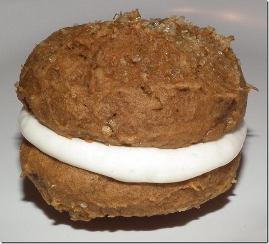 Pumpkin Spice Cake Mix Whoopie Pies 9-28-11