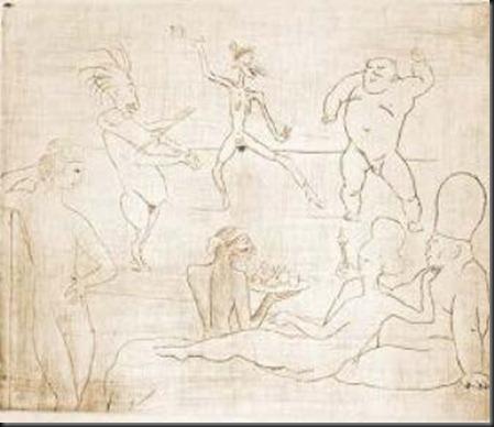 Picasso Bufon y acrobatas