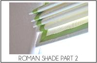 roman shade part 2