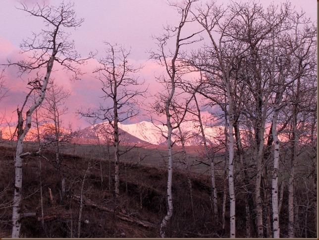 Sunrise on the West Boulder Mtns