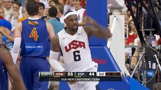 США - Испания предолимпийская баскетбольная встреча