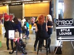 Aveda booth at Thread Show Seattle