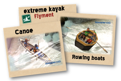 Canoe e o Rowing boats in extreme kayak (Flyment) lassoares-rct3