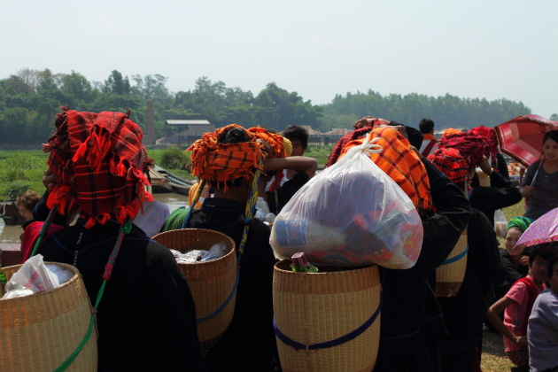 Colourful Headgear of the tribal people of Inle Lake, Burma