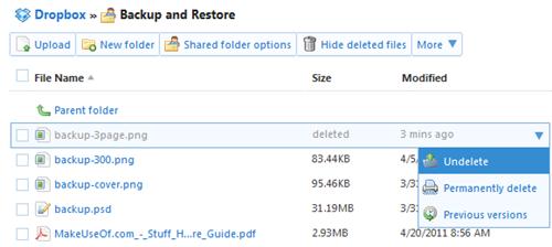 Restore Dropbox