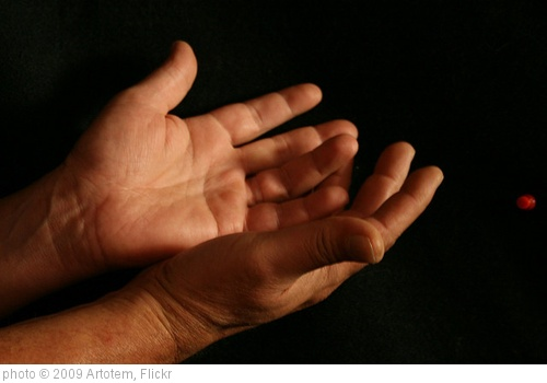 &#39;Giving Hands and Red Pushpin&#39; photo (c) 2009, Artotem - license: http://creativecommons.org/licenses/by/2.0/