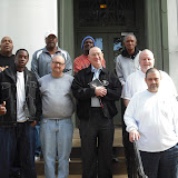 Men's Retreat at Manressa House of Retreats in Convent, LA - January 2010 - Buzzy Gainiennie holiding bible is recently deceased