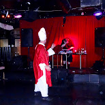 strange pope at a goth-goa rave at Nuit Blanche 2014 in Toronto, Ontario, Canada