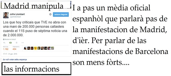 manipulacion de premsa París fabrica problèmas 2 Madrid
