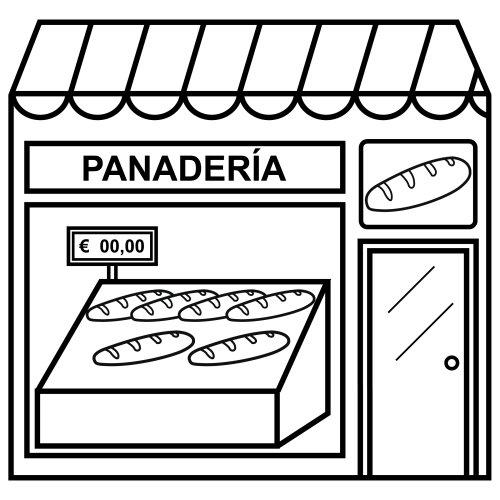 Una panadería para colorear - Imagui