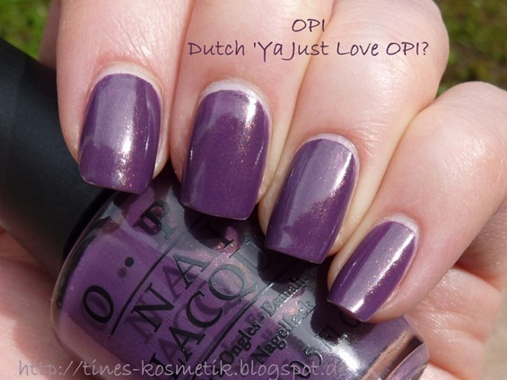 Dutch Ya Just Love OPI 5