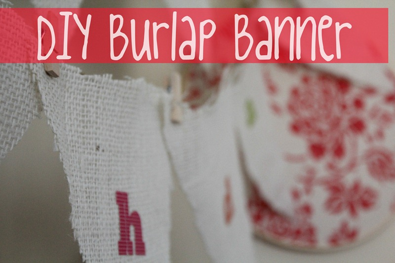 burlap banner