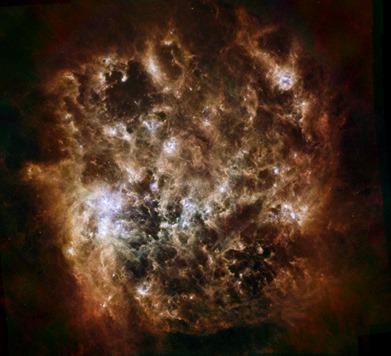 Grande Nuvem de Magalhães no infravermelho