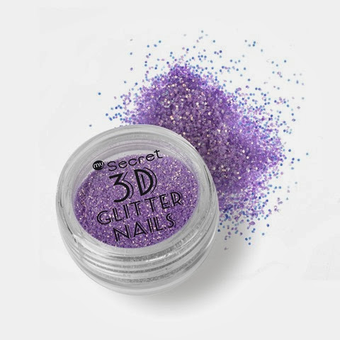 MySecret_brokat_3D_Glitter_Nails_2_róż_fiolet_kompozycja