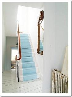 piso pintado escada