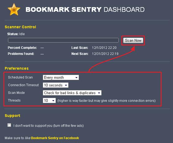 Bookmark Sentry 找出書籤裡失效、重複的網站(Chrome 擴充功能)