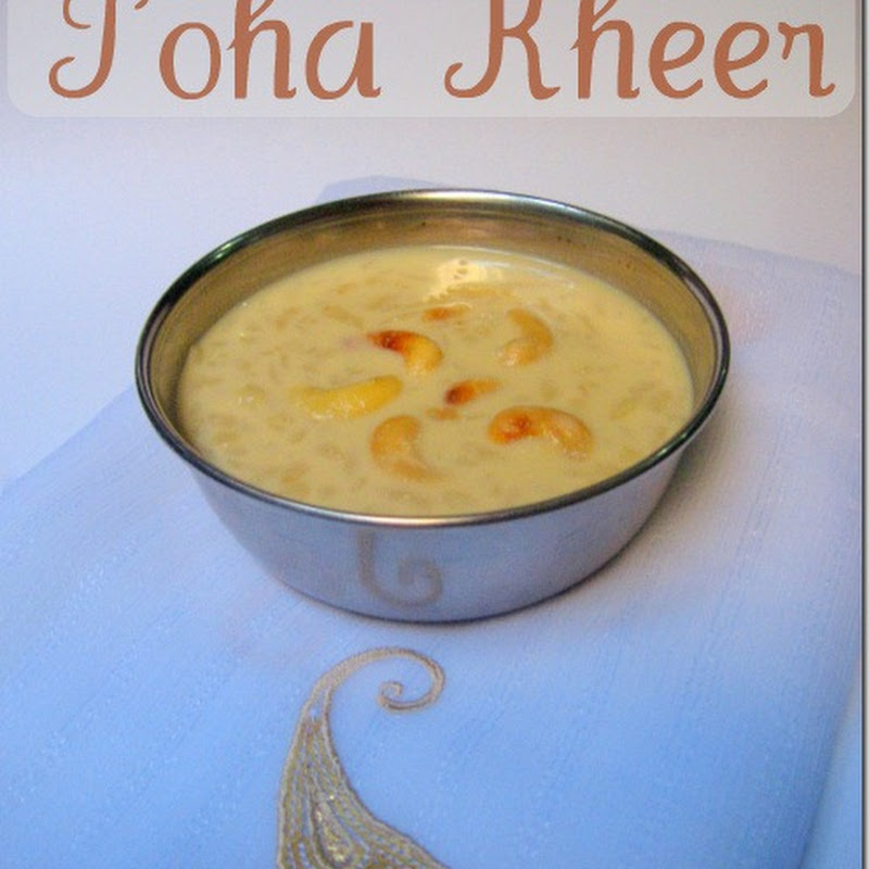 Poha Kheer | Aval Payasam | Rice Flake Milk Pudding