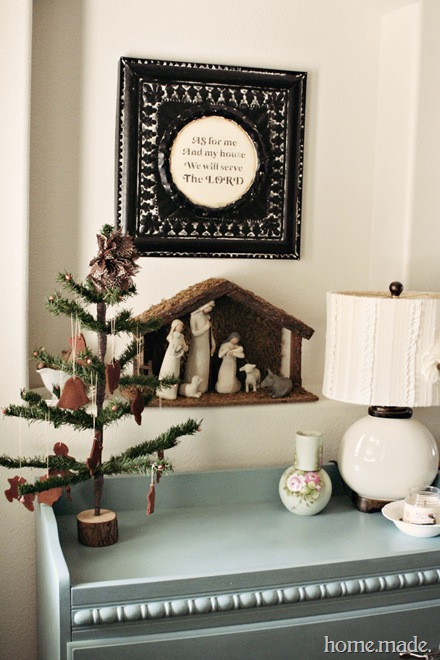 Christmas vignette home.made.