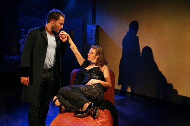 Graham Hamilton and Jaimi Paige in South Coast Repertory's 2014 production of VENUS IN FUR by David Ives.