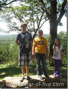 Ney Nature Center - The kids at the scenic overlook
