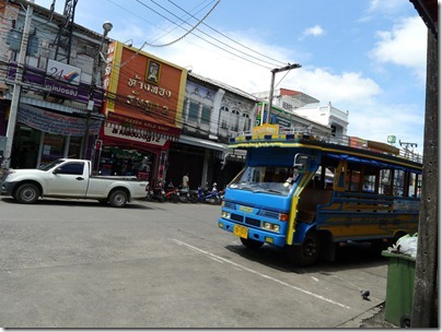 a songthaew at Phuket Town