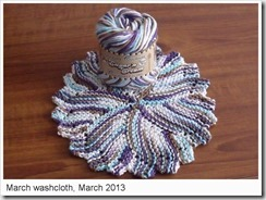 March washcloth