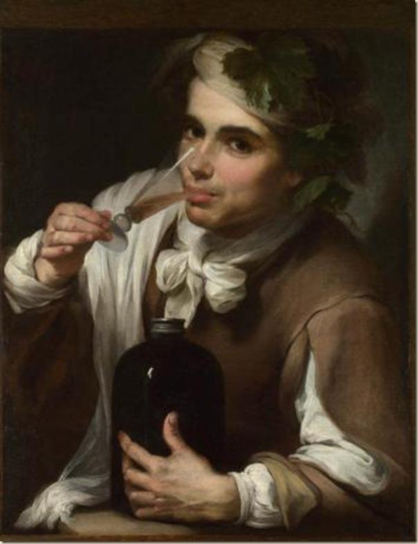 Bartolomé Murillo, Jeune homme buvant