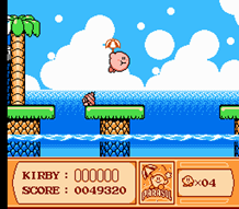 Parasol kirby on Ice Cream Island
