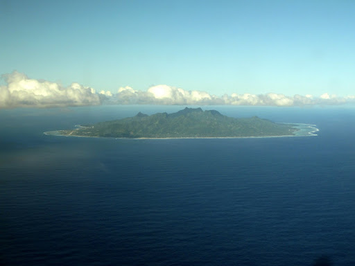 Our first glimpse of Rarotonga