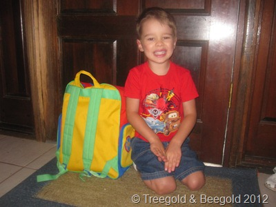 Lil'R on First Day of School