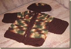 Camo brown sweater hat