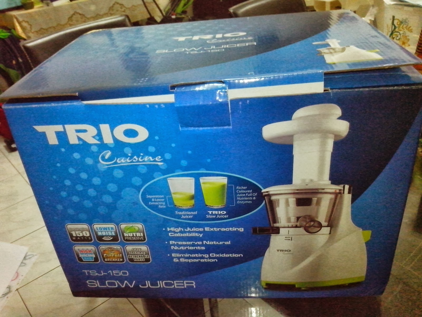 Trio Slow Juicer Review : It s My World...Citiee s World: TRIO SLOW JUICER