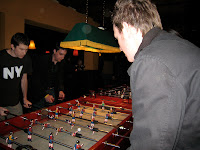 Table football action