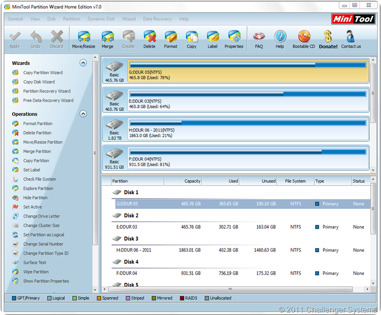 Partition Wizard Home 7.0