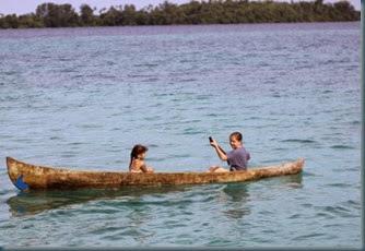Olivia & Katherine in Canoe