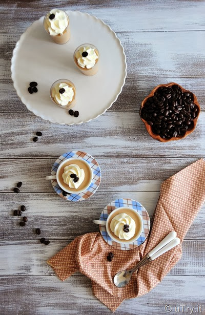 Coffee Panna Cotta with Mascarpone Cream