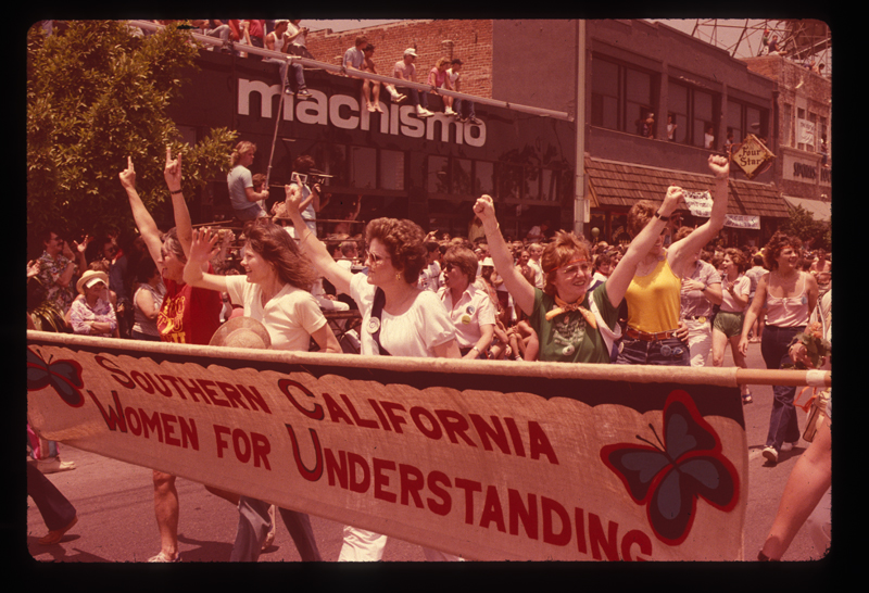 Southern California Women for Understanding at the Los Angeles Christopher Street West pride parade. 1982.