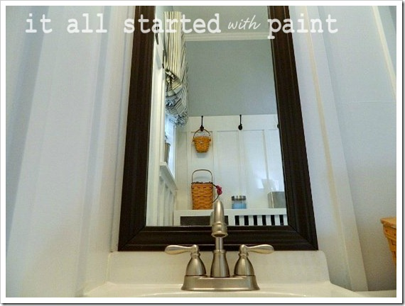 Powder Room Makeover After Sink & Mirror