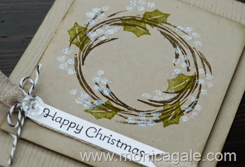 Stampin'Up! Undefined-Carved 2 step Wreath close